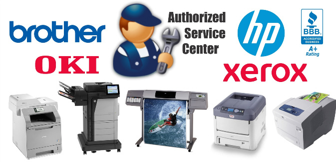 Authorized Service Center for Brother, HP, OKI & Xerox