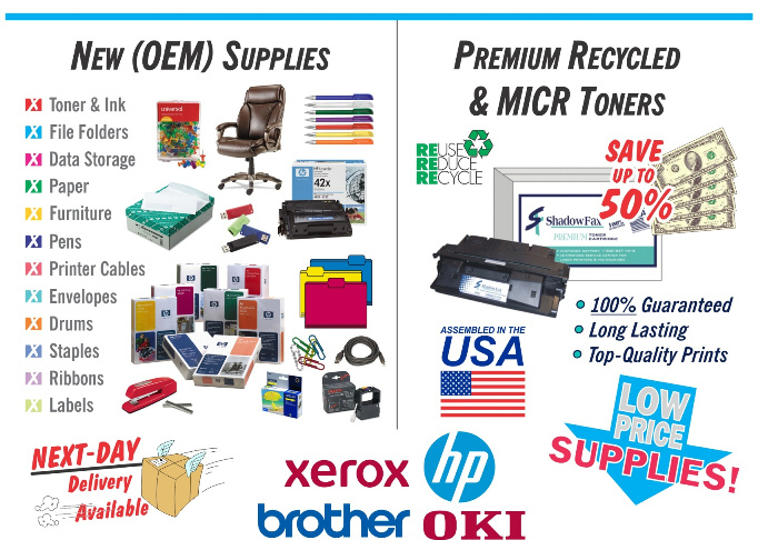 Shadow Fax : Office Supplies & Premium Recycled & MICR Toners